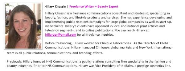 Hillary Chassin | Freelance Writer + Beauty Expert