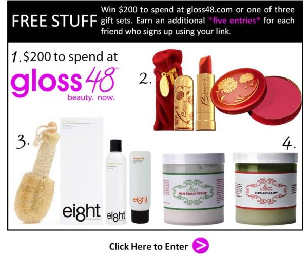 Free Stuff!  gloss48 Glam Giveaway!