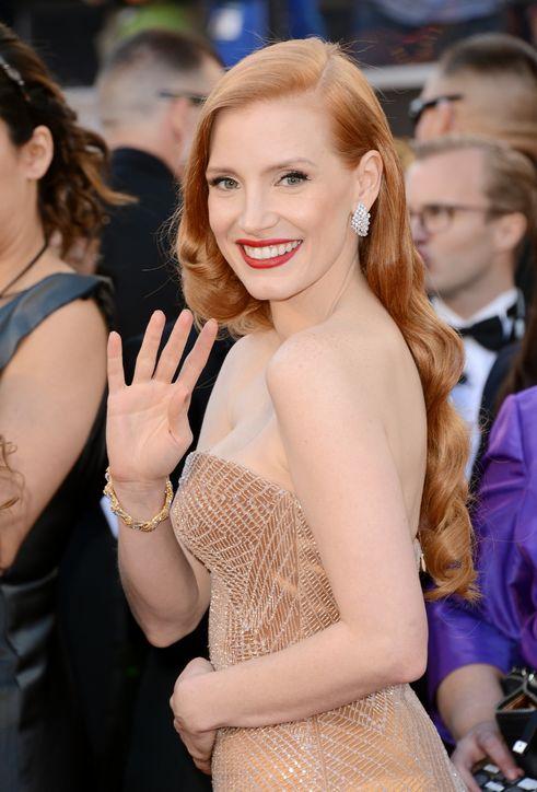 Jessica Chastain, Oscars 2013Source: Glamour.com