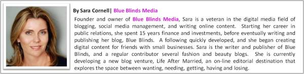 by Guest Glossist Sara Cornell, Blue Blinds Media