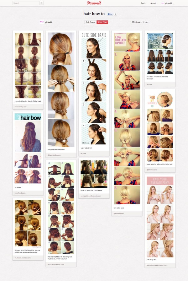 gloss48 Pinterest hair how to board
