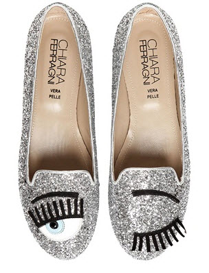 Chiara Ferragni Blinking Eyes Loafers