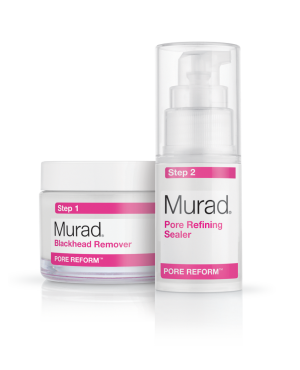 "Murad Blackhead and Pore Clearing Duo ""Reduces the formation of blackheads by an average of 58%."""