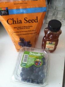 Chia Seed, Fresh Blueberries + Honey