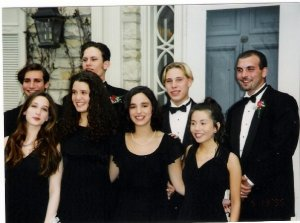 Prom Photo!  Guess which one is me?!  Hint: everyone else has great hair!